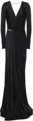 Versace Crystal-embellished Satin-jersey Gown
