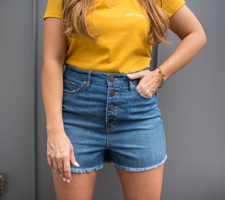 Rachel Hollis Ltd. High-Waisted Denim Shorts