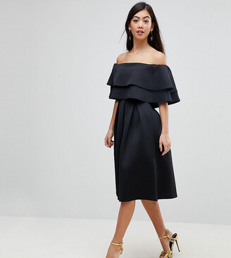 Asos Ruffle Off Shoulder Midi Dress