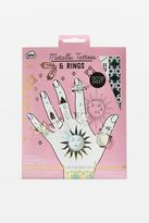 Topshop Metallic tattoos n rings stickers