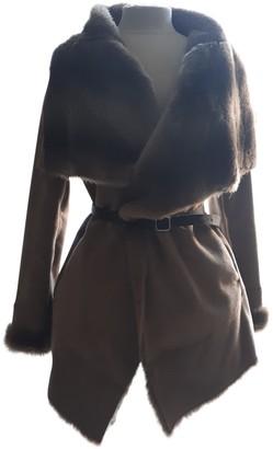 Pinko Beige Wool Coat for Women
