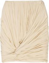 Silk-chiffon pleat-knot skirt