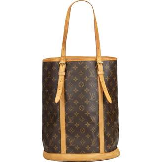 Louis Vuitton Bucket Brown Cloth Handbag