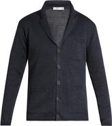 INIS MEÁIN Button-through linen cardigan