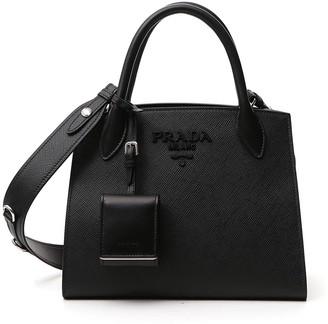 Prada Saffiano Monochrome Small Tote Bag