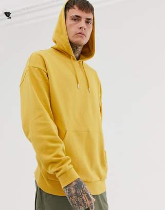 Asos Design DESIGN oversized hoodie in yellow