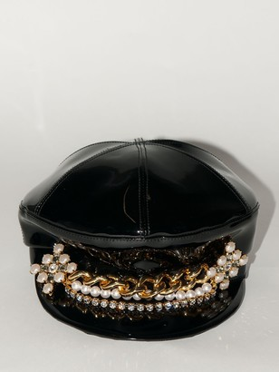 DSQUARED2 Lvr Exclusive Faux Patent Leather Hat