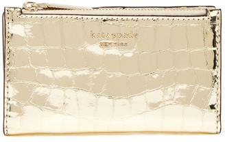 Kate Spade Sylvia Metallic Croc-effect Leather Wallet
