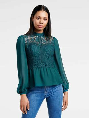 Ever New Petra Lace Yoke Blouse