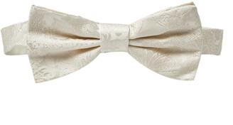 Dolce & Gabbana White Jacquard Silk Bow Tie