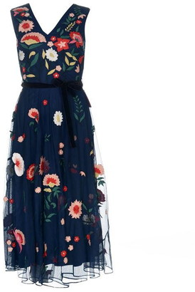 Frock and Frill ES Embroidered Midi