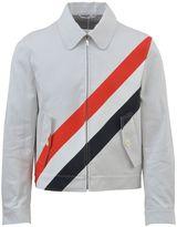 Thom Browne Striped Zip Up Cotton Jacket