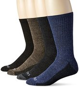 Dickies Men's 4 Pack Medium Weight Marled Accent Moisture Control Crew Socks