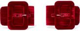 Attico - Velvet Ankle Straps - Red