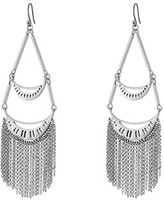 Lucky Brand Silver Fringe Earrings