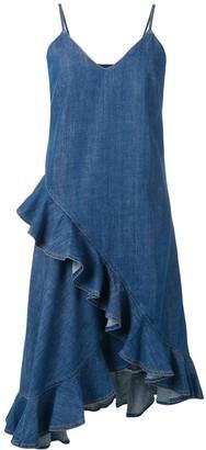 Kenzo Frilled Denim Dress