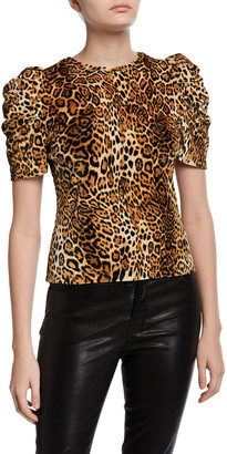 Generation Love Julia Pouf-Sleeve Leopard-Print Top