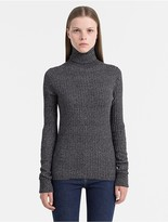 Calvin Klein Jeans Cotton Silk Roll Neck Sweater