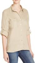 Just Living Roll Sleeve Linen Boyfriend Shirt