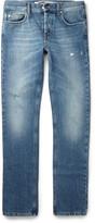 McQ by Alexander McQueen Slim-Fit Distressed Denim Jeans