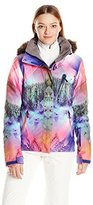 Roxy SNOW Women's Jet Ski Premium Slim Fit Printed Jacket