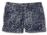 Classic Little Girls 5-pocket Pattern Denim Shorts-Midnight Navy Print