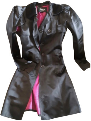Dolce & Gabbana Black Patent leather Trench coats
