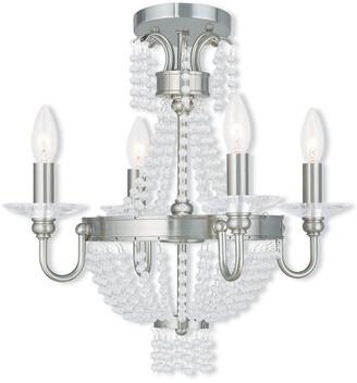 Livex Lighting Livex Valentina 4-Light Bn Mini Chandelier/Ceiling Mount