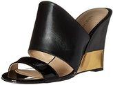 Nine West Women's Aniya Leather Wedge Sandal