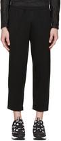 08sircus Black Loopwheel Terry Trousers