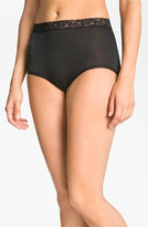Wacoal Women's 'Bodysuede' Lace Waist Briefs