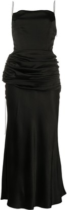 MATÉRIEL Draped Waist Slip Dress