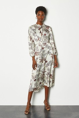 Karen Millen Botanical Print Midi Dress