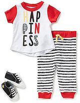 Baby Starters Baby Boys 3-9 Months Happiness Shirt, Striped Pants, & Star Shoe Set