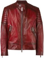 Christian Dior zipped jacket - men - Calf Leather/Polyester/Cupro - 52