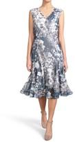 Komarov Women's Print Pleated Chiffon & Charmeuse Dress