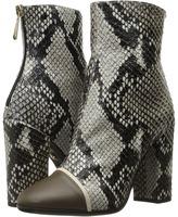 Just Cavalli Python Printed High Heel Ankle Bootie