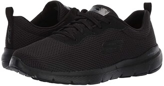 Skechers Flex Appeal 3.0 (Black) Women's Lace up casual Shoes