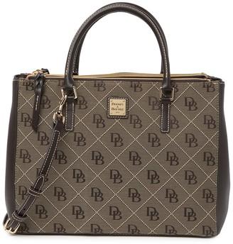 Dooney & Bourke Willa Zip Logo Satchel Bag