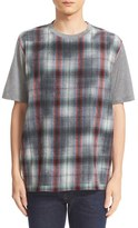 Lanvin Men's Plaid Front Wool & Cotton T-Shirt