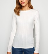 New Look Ribbed Stretch Long Sleeve T-Shirt