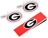 Cufflinks Inc. Men's Georgia Bulldogs Cufflinks and Money Clip Gift Set