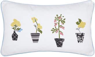 Joules Garden Dogs Cushion - White - 30x50cm