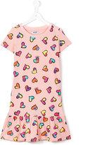 Moschino Kids - heart print dress - kids - Cotton/Spandex/Elastane - 14 yrs