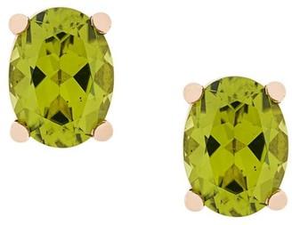 Delfina Delettrez 18kt champagne gold Dots Solitaire peridot stud earrings