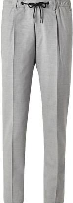HUGO BOSS Bardon Slim-Fit Tapered Melange Woven Drawstring Suit Trousers