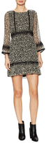 Anna Sui Silk Print Blouson Mini Dress