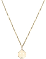 Sydney Evan 14K Tiny Happy Face Necklace