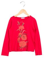 Dolce & Gabbana Girls' Long Sleeve Floral Print Top