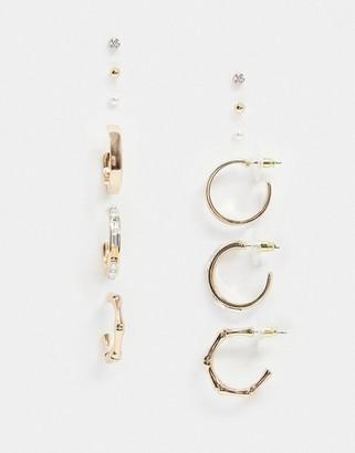 Aldo Argentea hoop earring multipack in gold